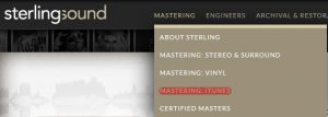 Mastered for iTunes Sterling Sound
